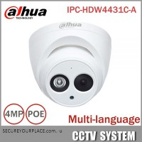 Dahua 4MP IP PoE Built-in mic Dome Camera