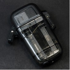 BLACK WINDPROOF WATERPROOF REFILLABLE CIGARETTE WITH NECKCORD LIGHTERS DELIVERY INCLUDED