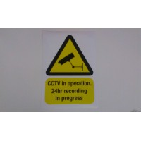 CCtv warning stickers 50mm x 70mm DELIVERY INCLUDED