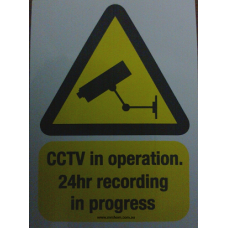 CCTV Warning  stickers signs decals 50mm x 70mm DELIVERY INCLUDED