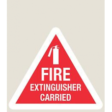 Fire Extinguisher stickers 80mm x 70mm
