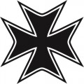 MALTESE CROSS CAR DECAL STICKER