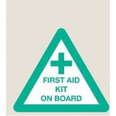 First Aid Sticker 70mm x 80mm