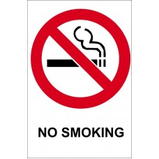 NO SMOKING Sticker 70mm x 75mm
