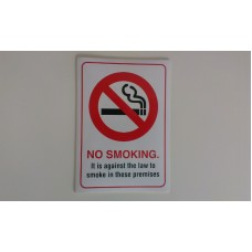 No Smoking Stickers A5