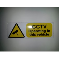 CCTV OPERATING IN THIS VEHICLE STICKERS